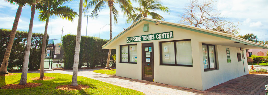 Surfside tennis center - photo courtesy of Jacober Creative