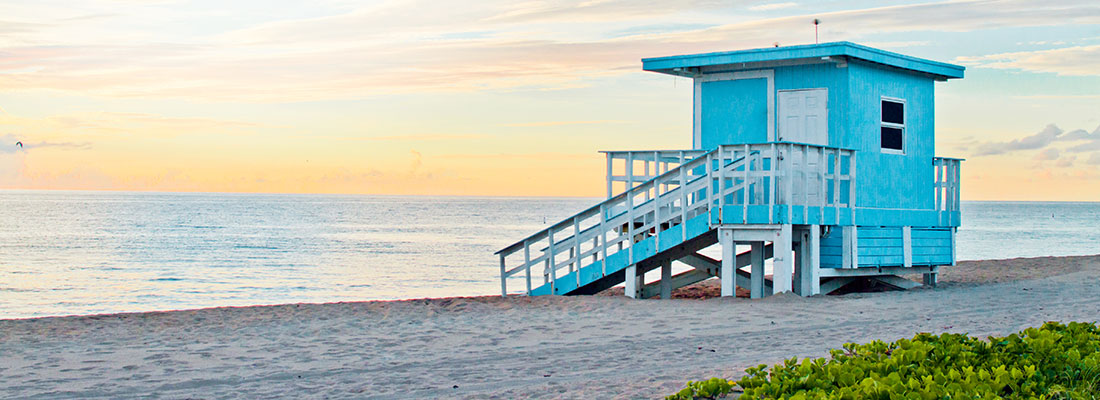 Lifeguard station on the beach - photo courtesy of Jacober Creative