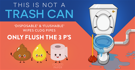 Flushable wipes campaign